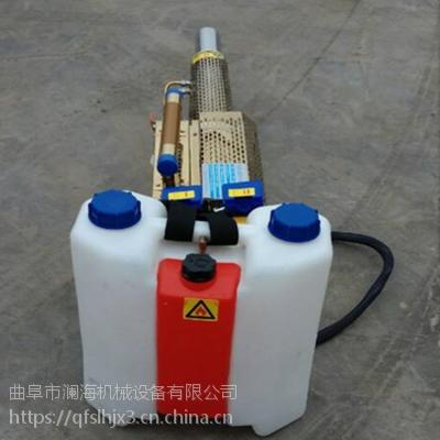 手提式110A双管弥雾机德州汽油电启动脉冲打药喷烟机 厂家直销
