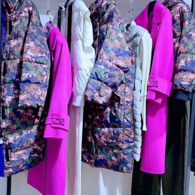 重庆虎门服装批发市场品牌折扣女装剪标艾蜜雪品牌折扣店加盟多种款式