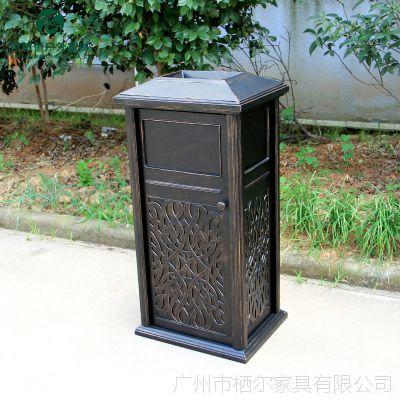 户外铸铝垃圾桶不锈钢垃圾箱花园庭院小区广场垃圾筒咖啡厅垃圾箱
