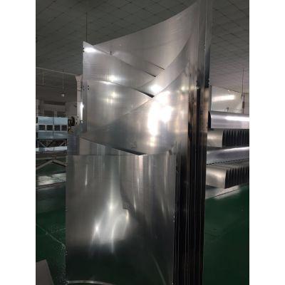 重庆斜边造型铝单板、木纹包柱铝板