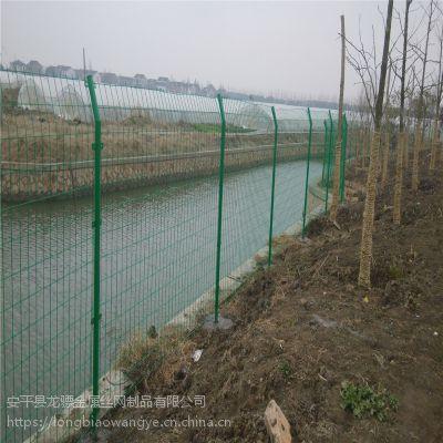 河道隔离防护网 场地建设围栏网 河道勾花防护网