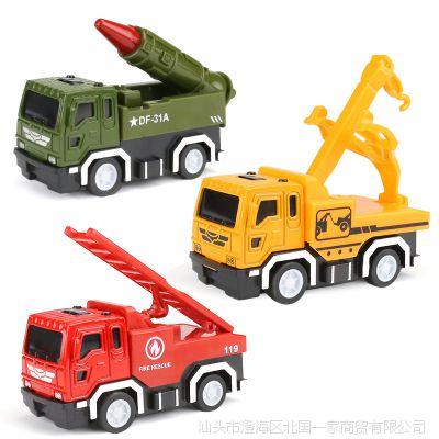 仿真回力合金车模儿童玩具小汽车合金工程车模型玩具批发