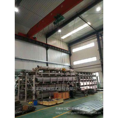 上海存放管材的货架结构 伸缩悬臂货架图片 行车配套