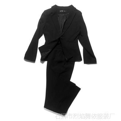 职业装西服套装女士商务正装保险面试银行黑色工装OL西装品质实拍