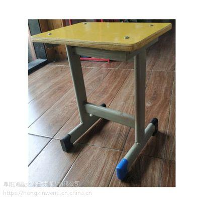 旺宇WY-KZ015单柱课桌凳 暖黄色课桌凳