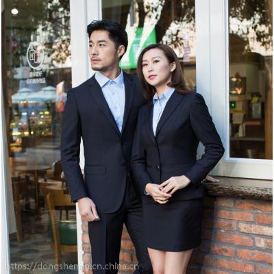 湖南株洲新款职业装男女同款西装定做商务修身西服套装男女正装工作服