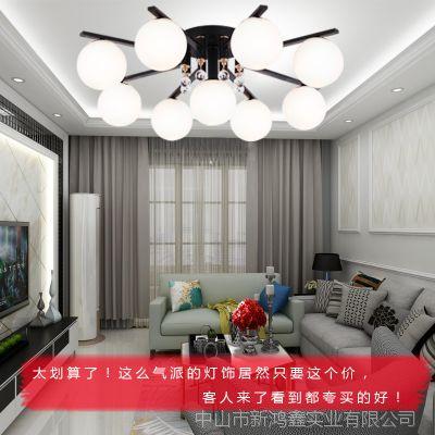 家用客厅现代简约餐厅卧室客厅灯奢华大气欧式灯全铜卧室灯具