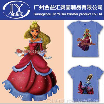 热销爆款可爱卡通公主型烫画 diy服装烫画现货 广州烫画厂家