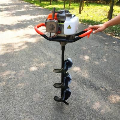 双人手提式汽油植树打坑机 四冲程大马力挖坑机