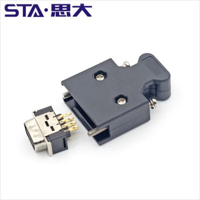 思大 14pin SCSI MDR伺服连接器 3M10350伺服插头 工厂直供