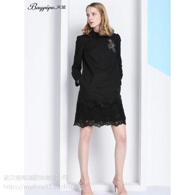 有什么女装加盟店好苛可女装春季新款长袖连衣裙上衣