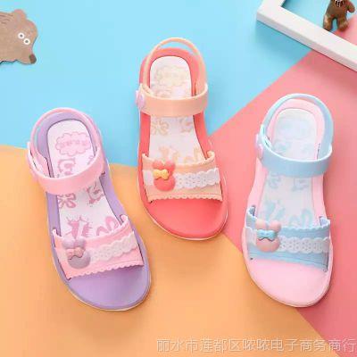 环保材质女童凉鞋2018新款小中大童公主鞋韩版儿童沙滩鞋