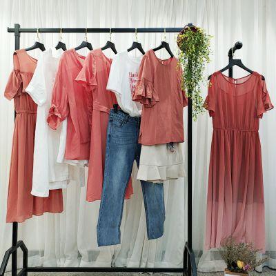 迪思兰柏品牌折扣店加盟排名武汉那里有女装品牌尾货批发中少淑连衣裙