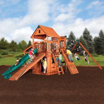 树屋主题乐园滑梯组合儿童爬网景区游乐设备树屋滑梯室外亲子乐园可加工定做