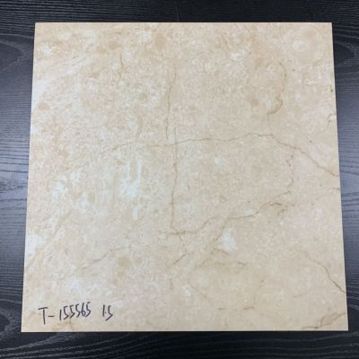 外贸尾单防潮大理石纹地板PVC/LVT片材塑胶地板457*457*1.5mm