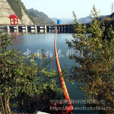 电站进水洞拦漂浮筒 新式柔性塑料浮筒拦污排厂家