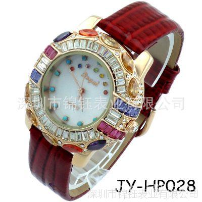 锦钰正品真皮带高档手表 女款时尚潮流韩版石英表 休闲女士手表