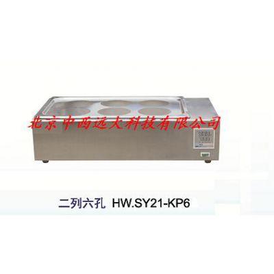中西(LQS厂家)水浴锅(两列六孔 型号:BC1-HW.SY21-KP6库号:M262412