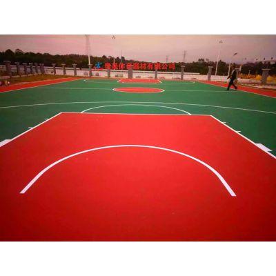 新邵室外篮球场地胶铺装价格明细,邵阳小区彩色篮球场地坪施工材料