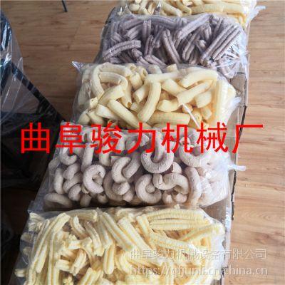 自熟型玉米膨化机多少钱 骏力牌 杂粮大米弯管型空心棒机 新款五谷杂粮香酥果机