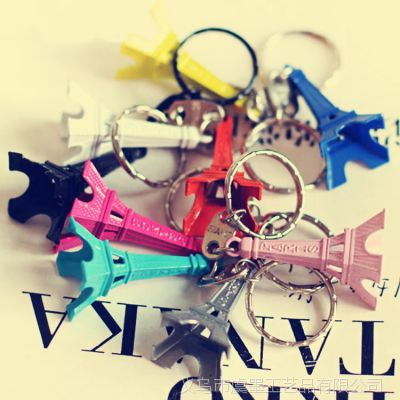 糖果色埃菲尔铁塔钥匙扣装饰小礼物 彩色迷你艾菲尔铁塔 礼品赠品