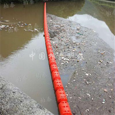 拦漂塑料浮标资阳水电站拦污效果图 水库拦污浮球