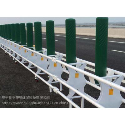 石黄高速预应力活动护栏安装/带轮防撞活动护栏