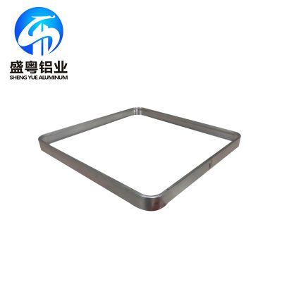 盛粤铝业厂家可来图加工各种折弯拉弯边框铝合金型材 质美价优