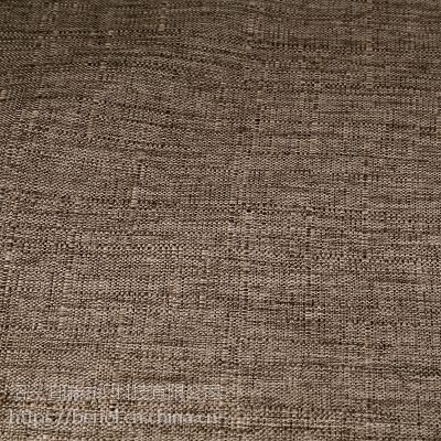 【厂家直供】仿麻布家纺沙发地垫箱包复合面料H8419
