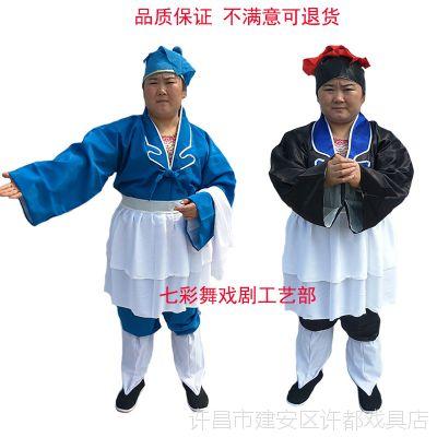 戏曲古装店小二武大郎丑角杂役跑堂茶衣戏装书童店家家丁娃娃衣服