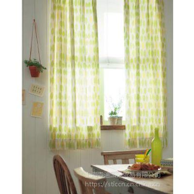 供应日本进口新科涤纶窗帘遮光印花窗纱 AZ-8030