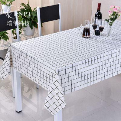 RNPT瑞年厂销 格子桌布防水防油台布pvc餐桌布长方形茶几布