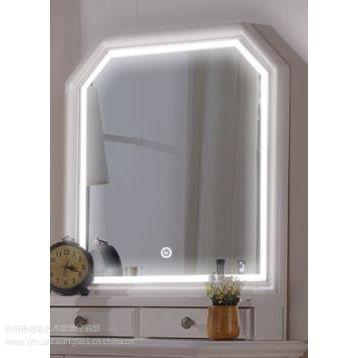 发光浴室镜子免打孔壁挂智能防雾洗手台厕所化妆圆镜子定制