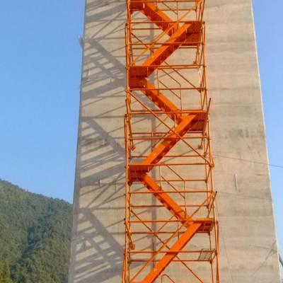 工程安全爬梯 基坑安全爬梯图片 箱式施工爬梯 组合框架式爬梯厂家直销