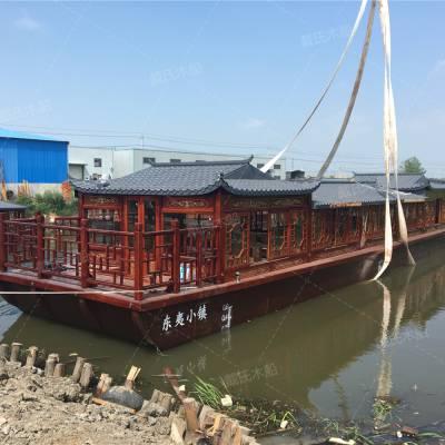 定做 7米观光游船 景区载客游船 仿古木船厂家