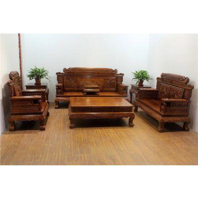 名琢世家刺猬紫檀客厅专用家具双福沙发123组合价格