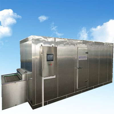 豆角速冻机 客户加工豆角非常满意 华富直供高智能流态化速冻机