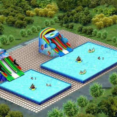 江苏南京成人支架游泳池移动水乐园生意好收入佳