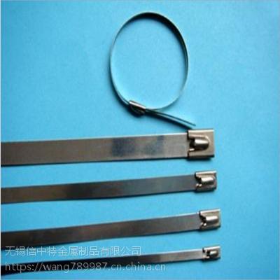 无锡信中特不锈钢扎带船用自锁金属扎带12mm标牌电缆扎带