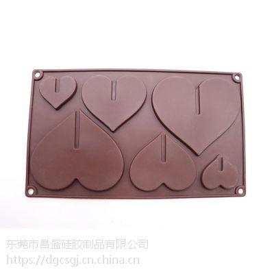 正惠15孔硅胶蛋糕模 15格 爱心巧克力模 冰格模具果冻模