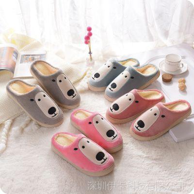 棉拖鞋男女可爱室内防滑保暖拖鞋居家厚底软底冬季情侣毛毛鞋拖鞋