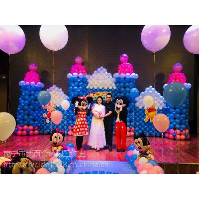 南宁宝宝宴创意主题|满月酒策划|城堡主题气球装饰-新百和气球