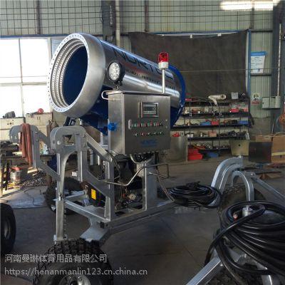 适用于雪雕工程造雪机现货供应 移动便捷人工造雪机