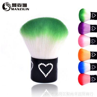 美甲用品工具光疗机套装批发羊毛粉尘刷子软毛刷指甲柔软进口毛刷