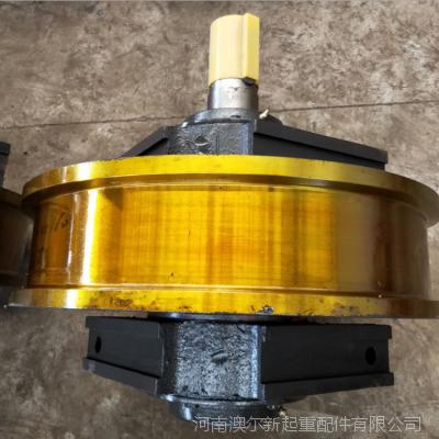 专业生产铸钢主动车轮组 φ600*160 轴承3622 双梁主动行走轮