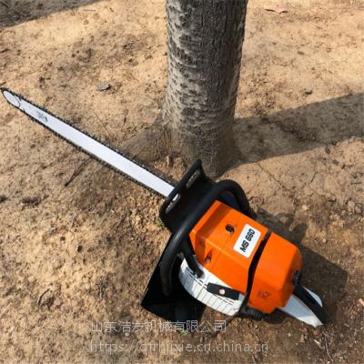一人就能操作的挖树机 移栽树苗起树机