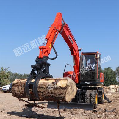 河南洛阳胶轮抓树机轮式抓木机总经销 轮式挖掘机 小型装载机全国联保售后无忧