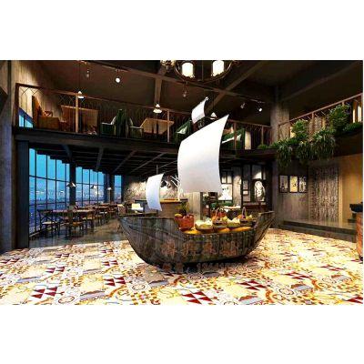 8m海盗船生产厂家 木质装饰船