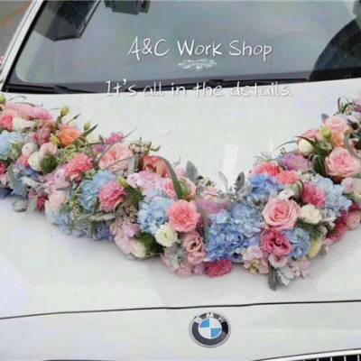 创意婚车装饰-花卉林婚庆开业花篮-蔡甸婚车装饰