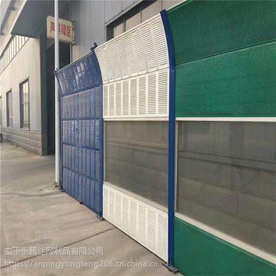 桥梁百叶穿孔声屏障,永腾专业生产安装隔音墙